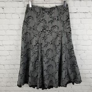 KOMBI MODE   ruffle full skirt velvet design skirt